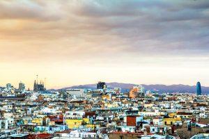 panoramica della città di Barcellona